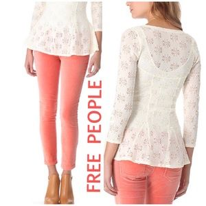Final Sale 🚫Firm 🚫 People Lace Godet Top